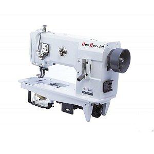 Máquina de Costura Industrial Reta Transporte Triplo Base Plana Modelo  SSTC1-2345 - Bivolt