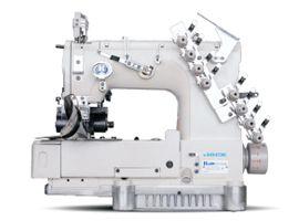 Máquina de Costura Direct-Drive de 4 Agulhas 8 fios Base Cilíndrica ponto Corrente Duplo Jack JK-8009VCDI-04085P - 220V