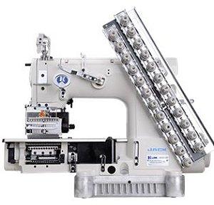 Máquina de Costura de 12 Agulhas 24 fios Base Cilíndrica ponto Corrente Direct Drive Jack JK-8009VCDI-12064P