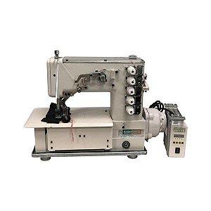 Máquina Galoneira 5 Fios Plana Fechada BC5000-D Bracob Motor Direct Drive Autovolt 110/220 V