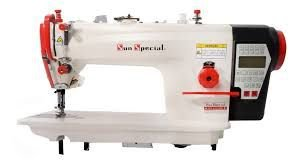 Maquina Reta Eletronica com Corte de Linha e Levantamento automatico Calcador Sunspecial SS9893D4 - 220 v