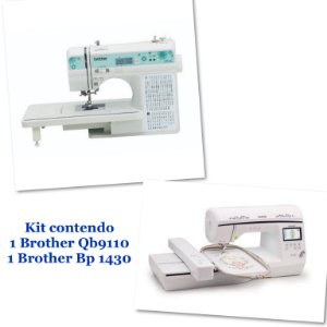 Kit Empreendedor com 1 Maquina de Costura Brother Qb 9110  + 1 Bordadeira Brother Bp 1430 Autovolt