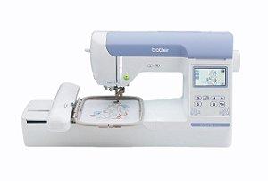 Máquina de Bordado Brother BE 815 L 13x18 Autovolt + Kit Inicial Empreendedor com 15 linhas Setta