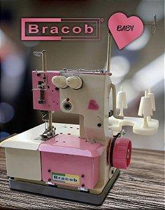 Máquina de costura Galoneira Bracob 2 agulhas semi industrial BC 2600-2 Baby- 110 V