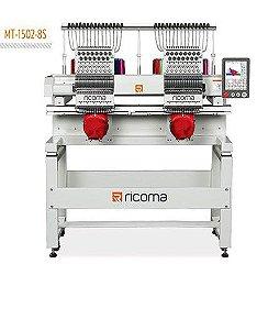 Maquina de Bordar Ricoma MT-1502-8S com Kit de 50 linhas de bordados com 2 Bastidores de Bones