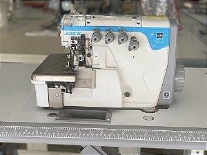 Maquina Overloque 2 Agulha Jack JK- E4S-4-83/323 BK com Arremate e Diferencial para Ajuste altura dentes - 220 vlts