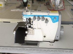 Maquina Interlock 2 Agulhas 5 fios Pesada Direct Drive Com Ajuste Diferencial do Dente Jack JK- E4S-5-A04/435 - 220 V