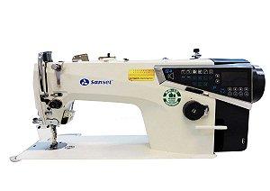 Maquina Reta Eletronica Sansei MQ4  -110 V Painel de Teclas e  Kit de Calcadores
