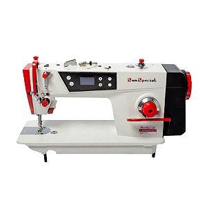 Máquina Costura Industrial Reta Lançadeira Grande Direct Drive Sun Special SS180D-B-TZ-QI - 220 V