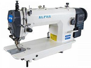 Máquina de Costura Reta Transporte Duplo Eletrônica 1 Agulha ALPHA Com Motor Direct Drive Para Tecidos Médios E Pesados LH-0303-TD4 -220 V