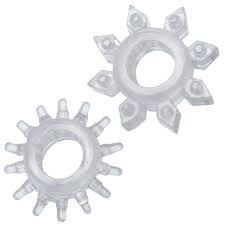 Anel peniano com saliência - Kit com 2 unidades
