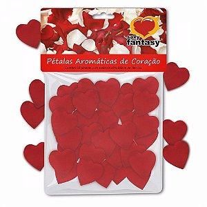 Pétalas Perfumadas formato coração c/fragrância afrodisíaca - embalagem c/60 unid