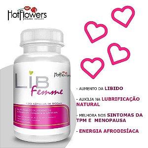 Suplemento alimentar de vitaminas com 120 cápsulas - Lib Femme