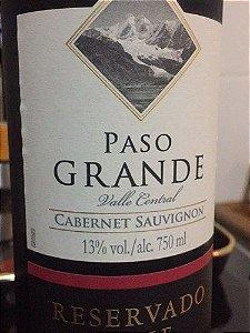 Vinho Paso Grande Cabernet Sauvignon 750ml