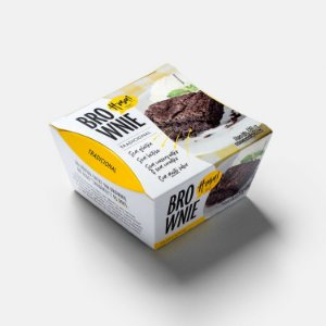 Brownie Tradicional 80g (individual) - Hmm Smart Food