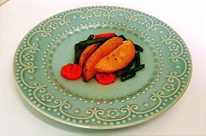 Batata a Dorê com Cenoura e Vagem 100 gramas