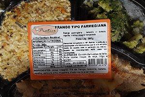 Frango à Parmegiana com Brócolis, Tomate, Repolho e Arroz Integral Temperado 390 gramas