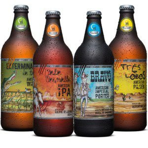 Kit com 4 Cervejas Backer 3 Lobos 600 ml cada