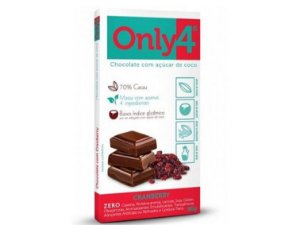 CHOCOLATE 70% CACAU/CRANBERRY 80 GRAMAS ONLY4