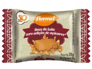 FLORMEL DOCE DE LEITE ZERO 20 GRAMAS