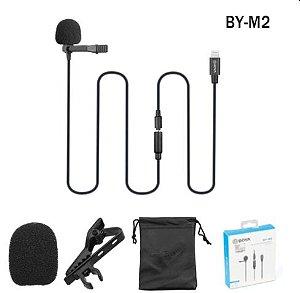 Microfone de lapela BOYA BY-M2 (iOS com fio)