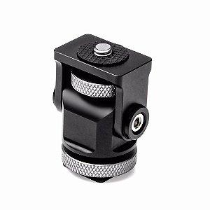 Hot Shoe ajustável Pan 360° Tilt 180° para Monitores de câmera