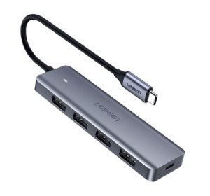 HUB USB-C com 4 portas USB 3.0 e 1 porta Micro USB UGREEN