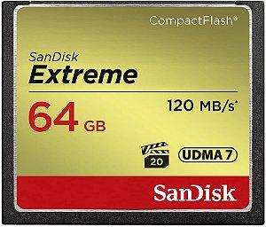 Cartão de Memória CF SANDISK 64 GB Extreme 120MB/s