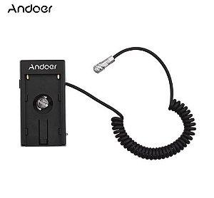 Adaptador BlackMagic Andoer AC para baterias f970