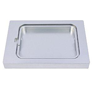 Suporte de Alumínio para Bandeja Plástica Pequena Funda 243x189x25mm - SKINPACK