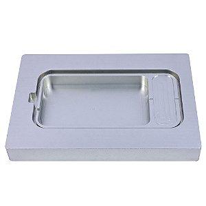 Suporte de Alumínio para Bandeja Plástica com Aba Lateral 276x143x25,5mm - SKINPACK