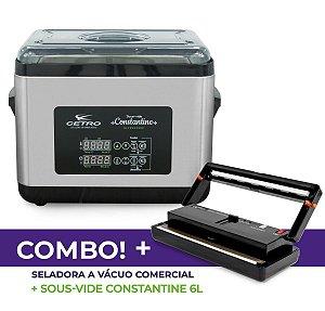 Seladora a Vácuo Comercial + Sous vide Constantine com Ultrassom 6 L + Brinde
