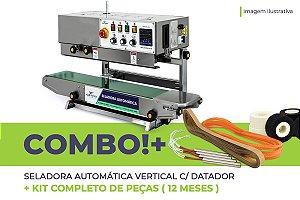 Seladora Automática Vertical com Datador + Kit Completo de Peças (12 meses)