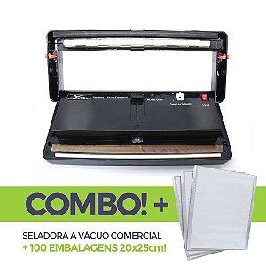 Seladora a Vácuo Comercial + 100 embalagens 20x25