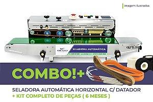 Seladora Automática Horizontal C/ Datador + Kit Completo de Peças (6 meses)