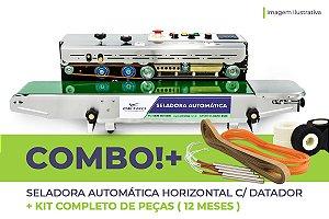 Seladora Automática Horizontal C/ Datador + Kit Completo de Peças (12 meses)