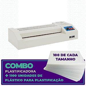 Plastificadora + 1100 Unidades (100 de cada tamanho)