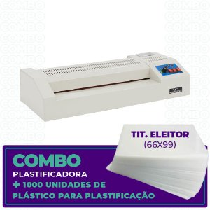 Plastificadora + 1000 Unidades  (Tit. Eleitor - 66x99)