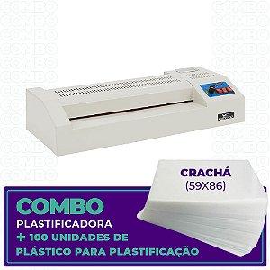 Plastificadora + 100 Unidades (Crachá - 59x86)
