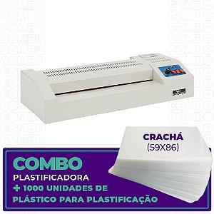 Plastificadora + 1000 Unidades (Crachá - 59x86)