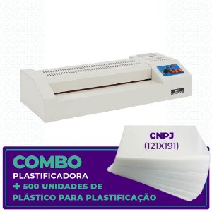Plastificadora + 500 Unidades  (CNPJ - 121x191)
