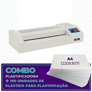 Plastificadora + 100 Unidades (A4 - 220x307)