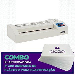 Plastificadora + 300 Unidades (A4 - 220x307)