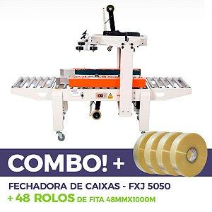 Fechadora de Caixas FXJ-5050 + 48 fitas