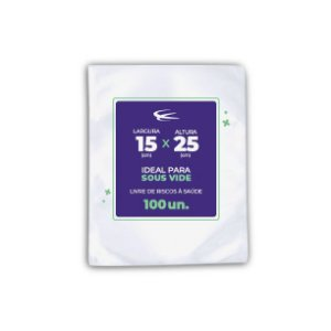 Embalagem Sous Vide 15x25 - 100 Unidades