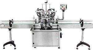 Envasadora de Liquidos Automatica em Linha - 10-300 ML (2-4-6-8 Bicos)