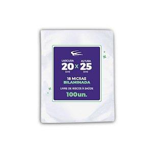 Embalagem a Vácuo Bilaminada 18 micras 20x25 - 100 Unidades