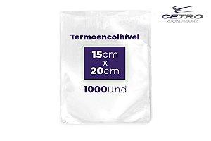 Embalagem a vácuo Termo Encolhível 8 micras 15x20 - 1000 und