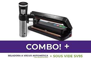 Seladora a Vácuo Comercial Automática com Reservatório + Termocirculador Sous vide SV95 - 110v