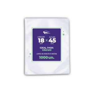 Embalagem a Vácuo 18x45 - 1000 Unidades